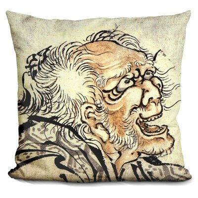 Head of An Old Manhokusai Throw Pillow