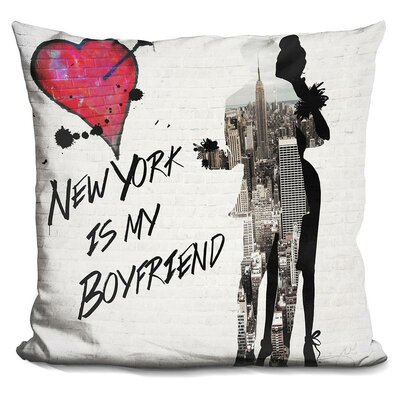 New York is My Boyfriend Throw Pillow