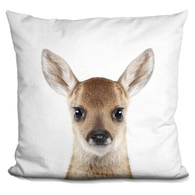 Hermann Baby Deer Throw Pillow Color: Brown