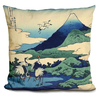 Hund Views of Mt Fuji Throw Pillow