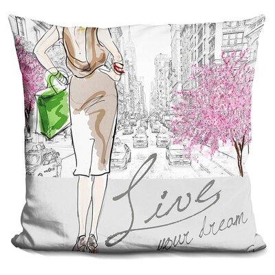 Hermina Live Your Dream Throw Pillow