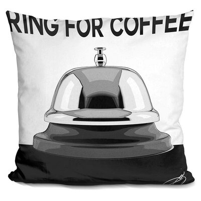 Ring For Coffee Throw Pillow