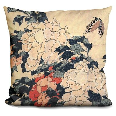 Bingley Peonies and Butterfly Throw Pillow