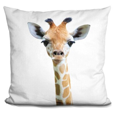 Demarest Baby Giraffe Throw Pillow Color: Yellow