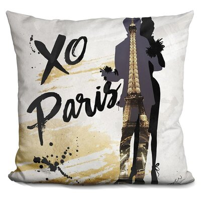 Elizebeth Xo Paris Throw Pillow
