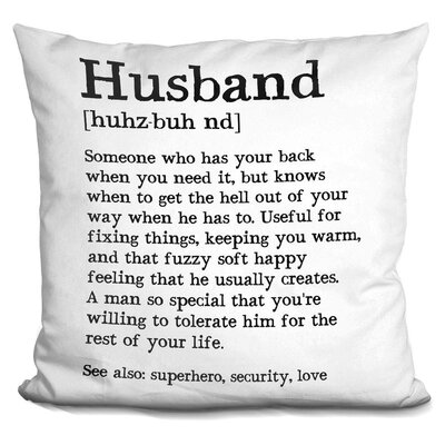Clapp Husband Throw Pillow