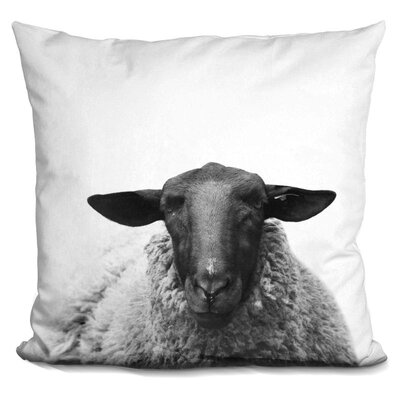 Keltner Sheep Throw Pillow Color: Black/White