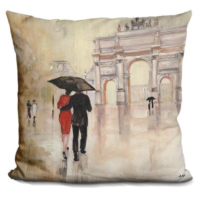 Gess Romantic Paris Throw Pillow