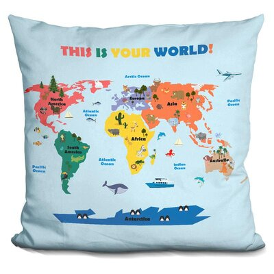 Lyles World Map Throw Pillow