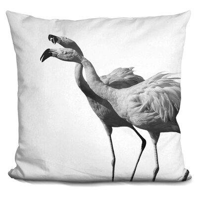 Holahan Flamingo Throw Pillow Color: Black/White