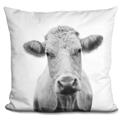 Hoggan Cow Throw Pillow Color: Black/White