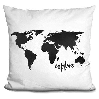 Hartzler Explore Throw Pillow Color: Black
