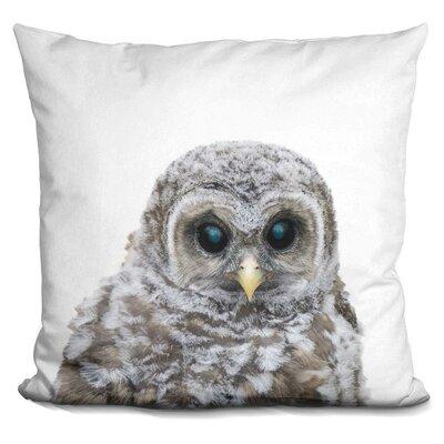 Hoehn Baby Owl Throw Pillow Color: Gray