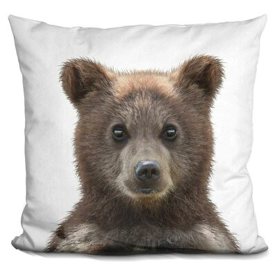 Delvalle Baby Bear Throw Pillow Color: Brown
