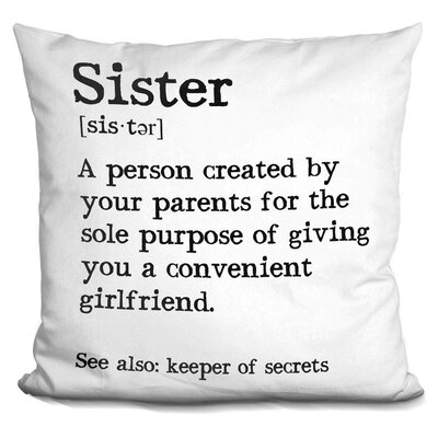 Gerena Sister Throw Pillow