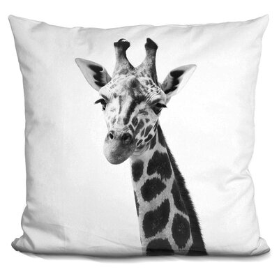 Holdsworth Giraffe Throw Pillow Color: Black/White