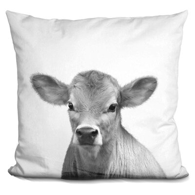 Loudon Calf Throw Pillow Color: Black/White