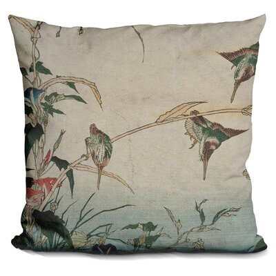 Kingfishers Reeds and Morning Throw Pillow