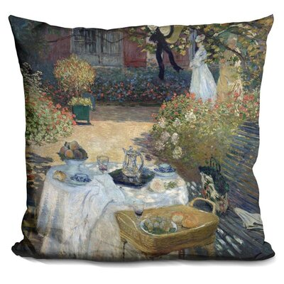 The Lunch MonetS Garden Throw Pillow