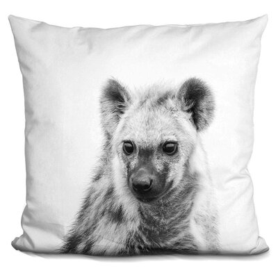 Holifield Hyena Throw Pillow Color: Black/White