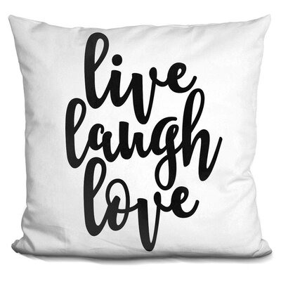 Hasse Live Laugh Love Throw Pillow