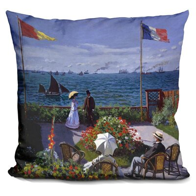 Bahr Garden at Sainte Adresse Throw Pillow