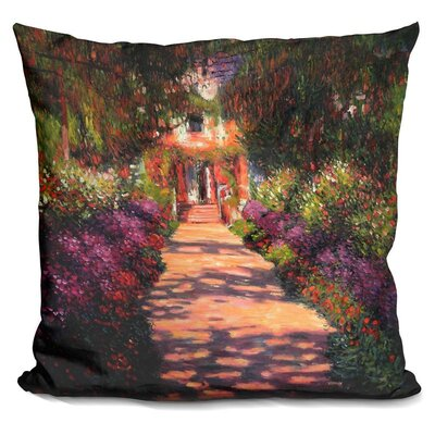 Josephs a Pathway in Monets Garden Throw Pillow