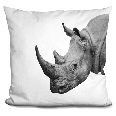 Kelston Mills Rhino Throw Pillow Color: Black