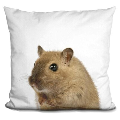 Jamil Mouse Throw Pillow Color: Brown