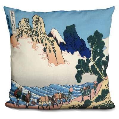 Fuji from the Minobu River Throw Pillow
