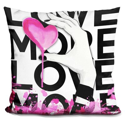 Love More Throw Pillow