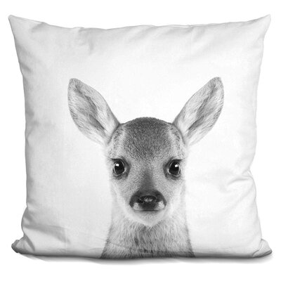 Hermann Baby Deer Throw Pillow Color: White