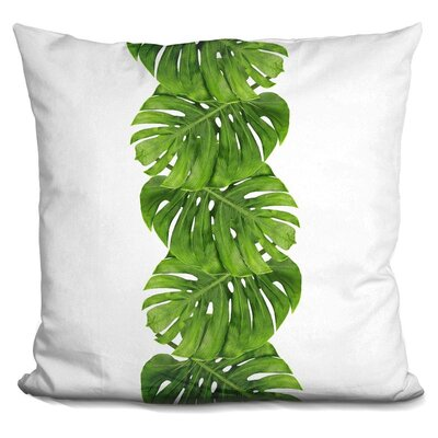 Kinross Monstera Throw Pillow