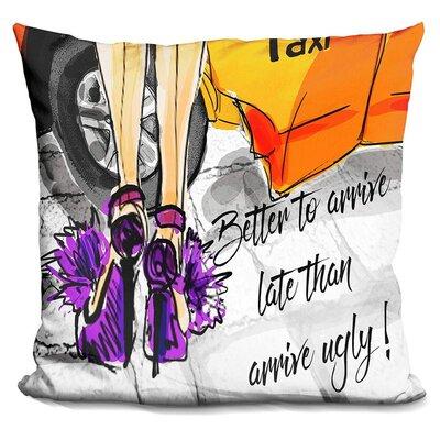 Jalbert Arrive Late Throw Pillow
