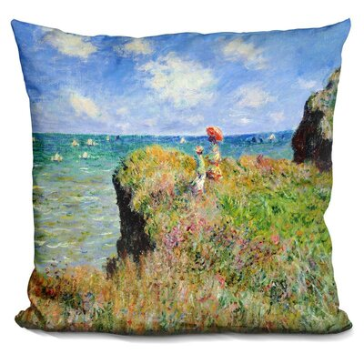The Cliff Walk at Pourville Throw Pillow