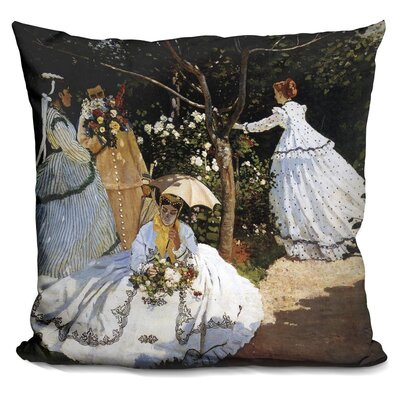Levey Women in the Garden Throw Pillow