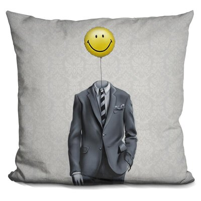 Mr Smiley Throw Pillow