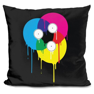 Melting Vinyl Throw Pillow