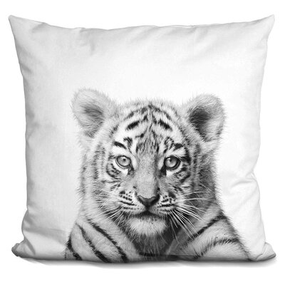 Hoekstra Baby Tiger Throw Pillow Color: Black/White