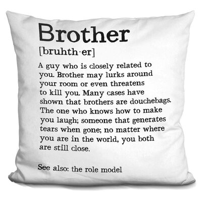 Molawade Brother Throw Pillow