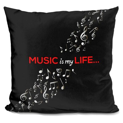 Music is Throw Pillow