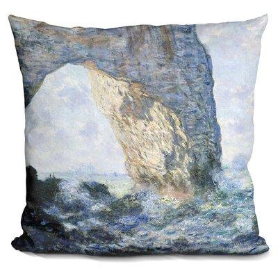 Rock Arch West of Etretat Throw Pillow
