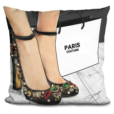 Angelena Sparkle in Heels Throw Pillow