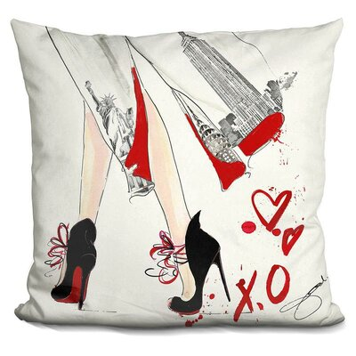 Myrtie New York Throw Pillow