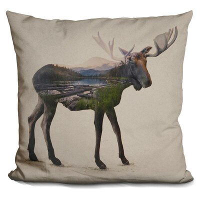 Olmo the Alaskan Bull Moose Throw Pillow