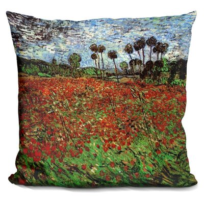 Poppies CMonet Throw Pillow