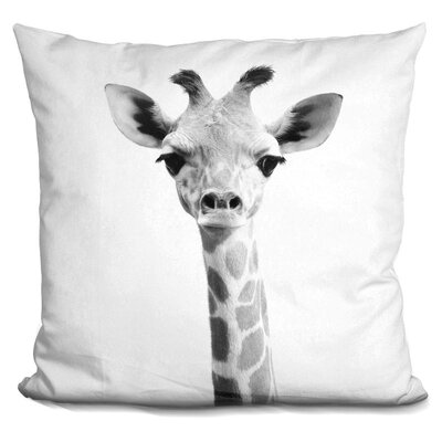 Demarest Baby Giraffe Throw Pillow Color: Black/White