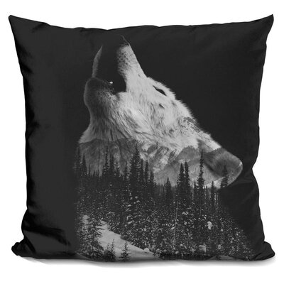 Howling Wolf Triad Throw Pillow