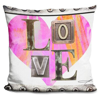 Love in Throw Pillow Color: Pink