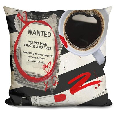 Elington Wanted Throw Pillow